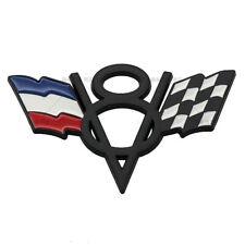 For Peugeot Renault V8 France FR Grille Grill Emblem Black Metal Front Badge