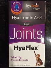 HyaFlex for Cats, Oral Hyaluronic Acid, Hip & Joint 1 oz (30 ml) Hyalogic NEW