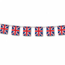 Large Quality Great Britain Flag Bunting Outdoor GB Banner Garland Decoration