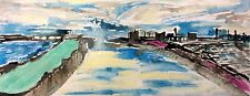 BRISTOL RIVER AVON BY NIGEL WATERS NEW DEC 17 ORIGINAL ACRYLIC CANVAS PAINTING *