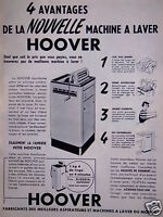 PUBLICITÉ HOOVER 4 AVANTAGES DE LA MACHINE A LAVER HOOVER - ADVERTISING