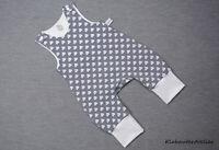 Strampler Handmade Jersey maritim Mädchen Gr. 50/56/62/68/74/80/86/92/98