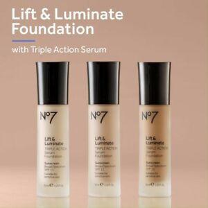 No7 Lift & Luminate Triple Action Serum Foundation 30ml SPF15 - Choose Shade: