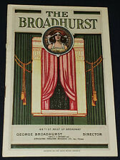 1919 - THE BROADHURST - THEATRE - NEW YORK, USA - PROGRAM - ORIGINAL