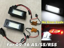 NO CANBUS ERROR LED LICENSE PLATE LIGHT LAMPS ASSEMBLY FOR 09-16 A5 S5 RS5 coupe