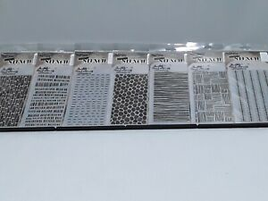 Stampers Anonymous Tim Holtz Layering Stencils Custom Lot of 7 Stencils NIP