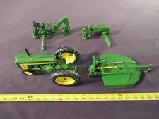 Ertle John Deere 720 Tractor '56 1:16 w/Three attachable Implements! ex. cond.