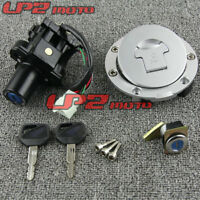 Motorcycle Ignition Switch Lock Key Gas Cap Set For Honda 900 CB900 CB919 02-07
