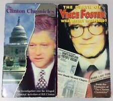 Rare The Clinton Chronicles The Death Of Vince Foster Alleged Crime Suicide VHS