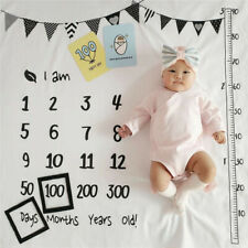 Newborn Baby Milestone Blankets Muslin Photography Background Props Swaddle Wrap