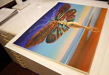 Rudolf Hausner, Schmetterlingsfrau - handsigniert
