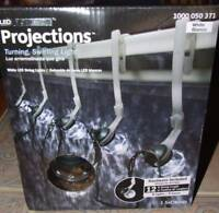 7 SETS!! Gemmy LightShow Projections Turning Swirling LED 12' 8 Lights White NEW