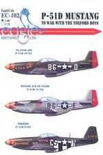 EagleCals Decals 1/48 P-51D MUSTANG Fighter TO WAR WITH THE YOXFORD BOYS Part 2
