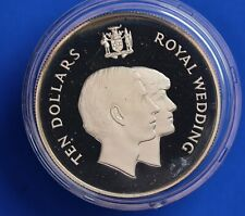 More details for 1981 royal wedding silver proof 28g - jamaica ten dollar $10   [22683]