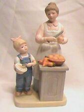 Home Interiors Denim Days Helping Mom Figurine 1985 8821