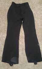 Women's Roffe Ski Pants Sz 8 reg. Black Rebound Nylon Wool Lycra Stretch R3477R