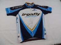 Capo Womens Ironfly Cycling Bike Jersey Shirt Sz Medium Italy MTB Summer Blue