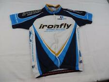 Capo Womens Ironfly Cycling Bike Jersey Shirt Sz Medium Italy MTB Summer Blue