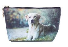 Yellow Labrador dog Toiletry Cosmetic purse