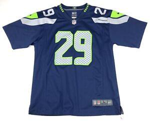 Nike On Field Earl Thomas III Seattle Seahawks Jersey Youth Size Large Blue