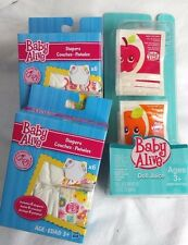 New Set of 2 Baby Alive Diaper Packages And Doll Juice Package