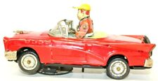 VINTAGE JAPANESE TIN LITHOGRAPHED 1950'S CHEVROLET BUMP N GO CAR W/ DRIVER