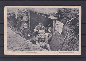Grüße aus dem Schützengraben mit Stempel Kriegslazarett ANSEHEN