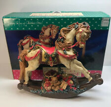 Holiday Classics Musical Rocking Horse Over 1' Tall New With Box Christmas Resin