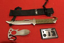 SURVIVAL GEAR KNIFE TACTICAL FISHING HUNTING HIKING CAMPING EDC TOOL MILITARY S