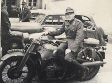 Foto 2. Wk - Soldat auf schwerem Motorrad