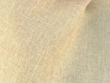 "Light Gold Burlap Canvas Vintage Linen 60""W Fabric BTY Drape Dress Apparel Craft"