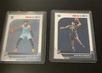 2019 Ja Morant NBA Hoops RC Memphis Grizzlies Rookie Base+ Zion Williamson