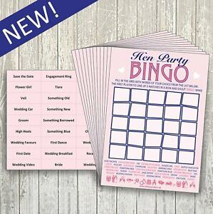 HEN NIGHT DO BINGO - HEN PARTY GAME - 20 PLAYER - like Willy Bingo - NEW!