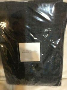 Restoration Hardware Perennials Indoor Drapery Textured Linen Weave 108L Black