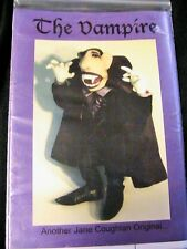 "THE VAMPIRE~Jane Coughlan *RARE OOP 20""  whimsical cloth art doll pattern"