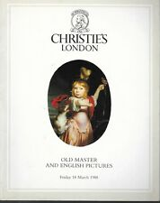 Christie's 3787 Old Master & English Pictures Auction Catalog 1988