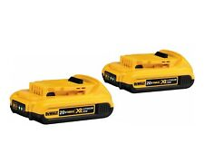 2x NEW Genuine Dewalt DCB183 18v 2.0Ah XR Li-Ion 2ah Lion Slide Battery 2000mah