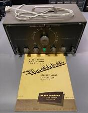 Heathkit Sq 1 Square Wave Signal Function Generator Amp Manual Restord Great Cond