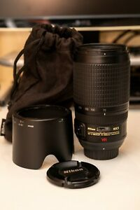 Full Frame Nikon AF-S Nikkor 70-300 F/4.5-5.6 G ED IF VR AF Lens W/Caps