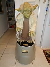 Star Wars Phantom Menace  Life Size 3 Ft. Yoda Statue With Stand Pepsi Blockbust