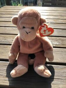 Ty Beanie Baby Bongo the Monkey with Brown Tail Style 4067