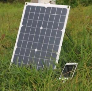 18V 20W/40W Solar Panel for 12v Battery Flexible Camping/Hiking USB Boat Home RV