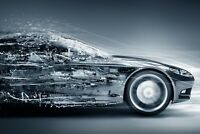A1 | Futuristic Car Poster Art Print 60 x 90cm 180gsm Concept Men's Gift #8666