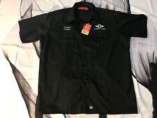 Southwest Airlines Mechanic PitCrew Polo Button Down Shirt Men Red Kap 3XL Black