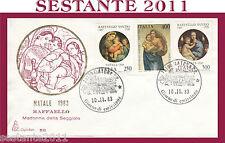 ITALIA FDC NATALE 1983 RAFFAELLO MADONNA SEGGIOLA - MEDIA CONSERVAZIONE  H362