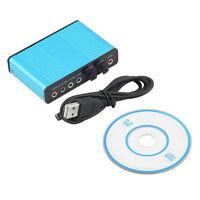 USB 6 Channel 5.1 Audio External Optical Sound Card Adapter For PC Laptop  DE