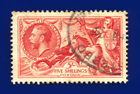 1934 SG451 5s Bright Rose-Red N74 Registered oval -- APR 39 Used Cat £85 dcij