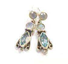 Butterfly Moonstone Sterling Silver Fine Earrings