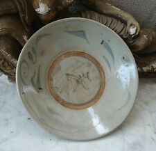 Antique CHINESE 18th C-1750 LARGE Celadon PLATE Charger BOWL #3