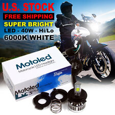 All In One Motorcycle H4 LED Headlight 40W 3000LM COB Hi Lo Beam Light Bulb